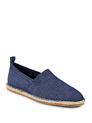 Fifth Avenue Toe Navy On Slip Saks Flats Espadrille Round 7qCdxqOv