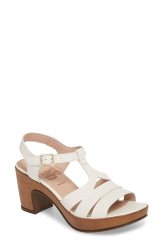 White Sandal Off Block Platform Wonders Leather Heel qnCzx7Cw4