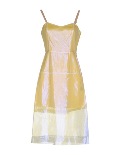 Marc by Marc Jacobs Knee Length Dresses Light Yellow e9nqDcH
