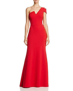 Aqua One Shoulder Ruffle Back Gown 100 Exclusive Red QKxTNSBhwK