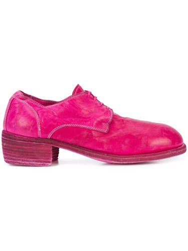 Guidi Round Toe Lace Up Shoes Pink And Purple p2vWtJ