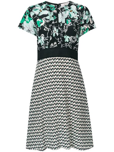 Dorothee Schumacher Floral And Geometric Panelled Print Dress Multicolour AvHa4xmsrR