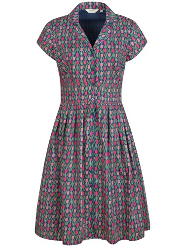 Seasalt Lottie Dress Tulips Marine Xw3cIP