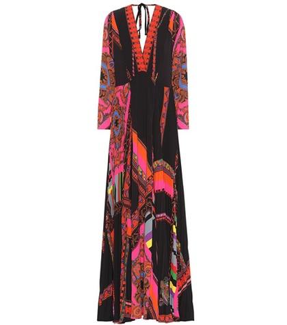 Etro Printed Maxi Dress Multicoloured fd5Cabxke