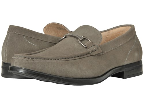 Stacy Adams Newcomb Gray Suede Men's Lace Up Moc Toe Shoes LmCZkWcO6
