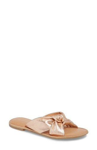 Jeffrey Campbell Zocalo Slide Sandal Rose Gold gilCK4