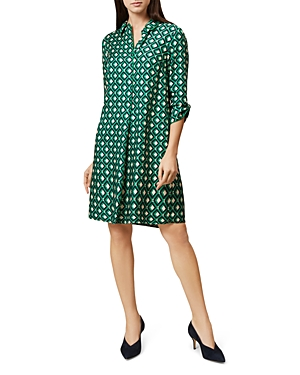 Hobbs London Ellie Printed Dress Apple Green zLbM0