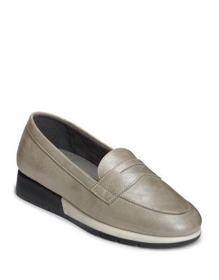Penny Aerosoles Loafer Off Taupe Leather Time 76qZ6U