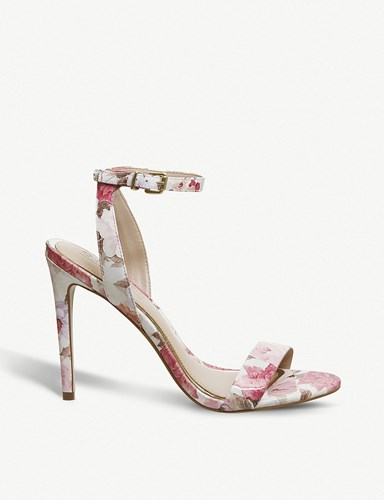 Floral Alana Office Heeled Leather Sandals 50qwqZ