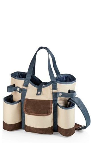 Picnic Time Wine Country Wine And Cheese Tote Brown ajrbbs