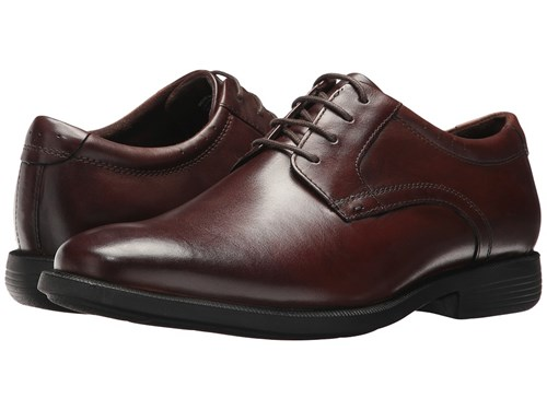 Nunn Bush Devine Plain Toe Oxford With Kore Walking Comfort Technology Brown Lace Up Casual Shoes IL1CQqCDR
