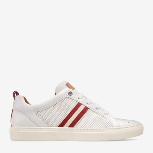 Bally Men's Calf Leather And Mesh Low Top Sneaker In White 0300 White G6RFEvS