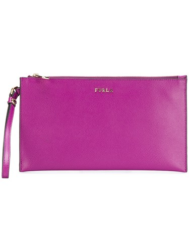Furla Babylon Envelope Clutch Pink And Purple QB8zM1K