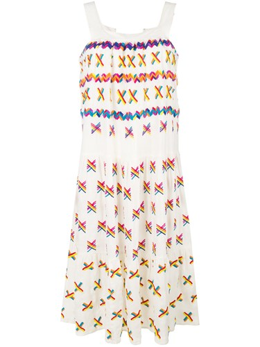 All Things Mochi Embroidered Details Sundress White Y65e6d