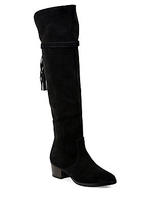Frye Clara Tassel Suede Over The Knee Boots Elephant iaRGD
