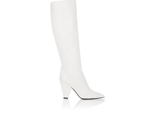 Barneys Slouchy York White Knee New Boots Leather Women's rq1UrCwx