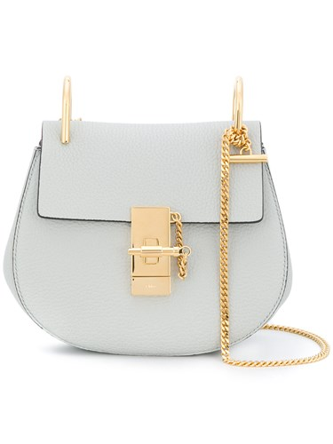Chloé Grey Drew Small Leather Shoulder Bag NGYssYC5s