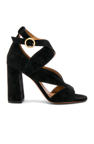 Black Graphic Chloé Sandals Suede In Leaves wqAfSAOF6