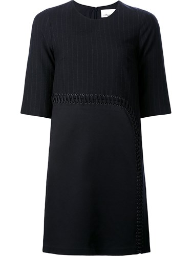 3.1 Phillip Lim Pinstripe Shift Dress Black p5eVgn9