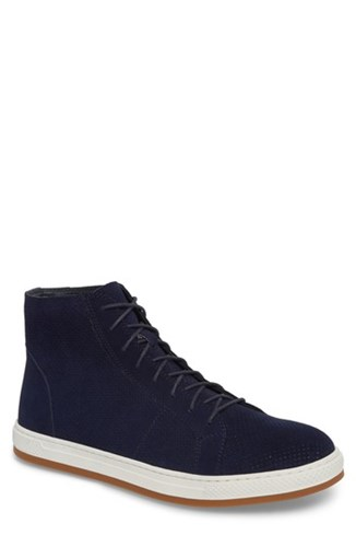 English Laundry Windsor Perforated High Top Sneaker Navy Suede gLnqH5