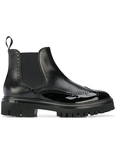 Santoni Perforated Derby Style Boots Black d1n1nmm5