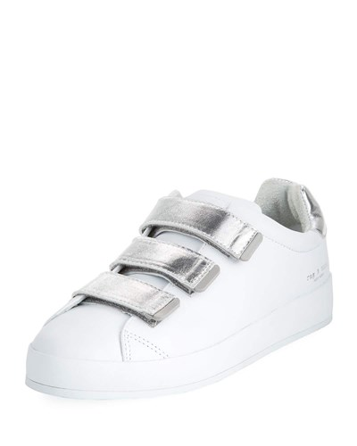 Rag and Bone Rb2 Platform Two Tone Sneaker White Silver 16fgem3rBA