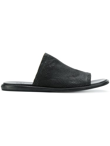 Lost & Found Ria Dunn Mesh Sandal Lamb Skin Leather Black nVSHKo