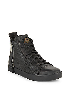 Diesel Textured Ankle Length Shoes Black vFnqDD