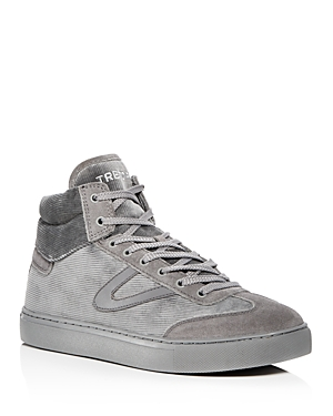 Tretorn Men's Jack Corduroy And Suede High Top Sneakers Grey V9PxN6UQ