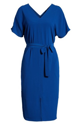 Bobeau Stretch Crepe Dress Blue HYg2p