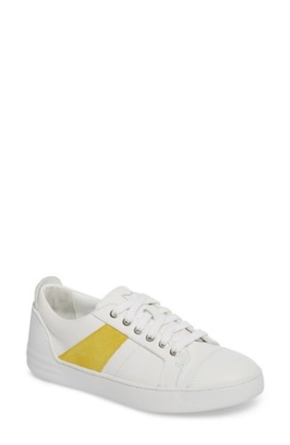Marc Fisher 'S Ltd Candi Sneaker Yellow White Leather n58IG