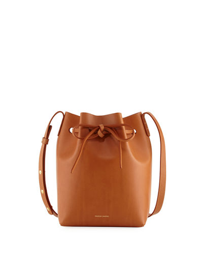 Mansur Gavriel Vegetable Tanned Leather Mini Bucket Bag Cammello Rosa CKm9eB