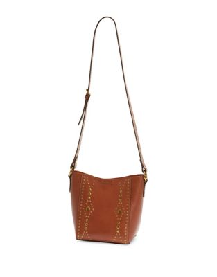 Frye Harness Stud Leather Crossbody Bag Rust c6sLbFW