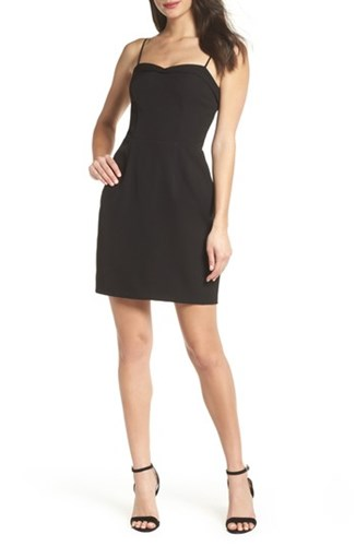 Charles Henry Fitted Corset Sheath Dress Black TJGNo0p