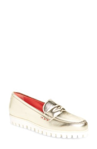 Pas De Rouge Marta Loafer Gold Leather 0B8mAOOP3