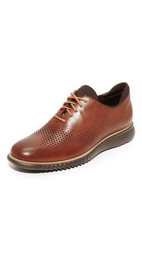 Cole Haan 2.Zerogrand Laser Perforated Wingtip Oxfords British Tan Java YCoWGON