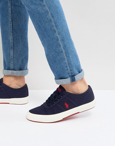 Polo Ralph Lauren Tyrian Trainers Canvas In Navy Navy WlWwg702Gr