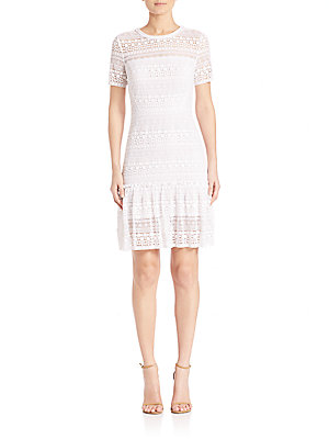 Tahari Dress Optic White Jacey Lace Elie dfUcHqd