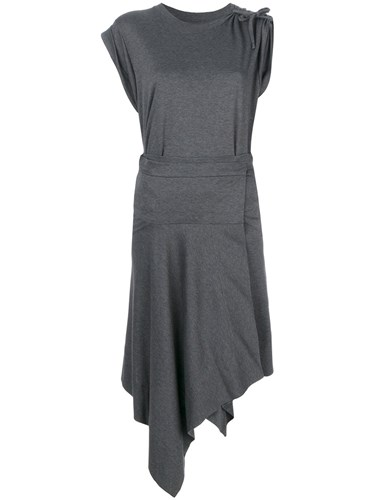 Isabel Marant Draped Shift Dress Grey Ed7mNb