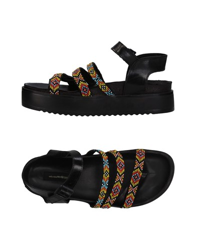 COLLECTION PRIVEE L'UX Toe Strap Sandals Black hT7IS