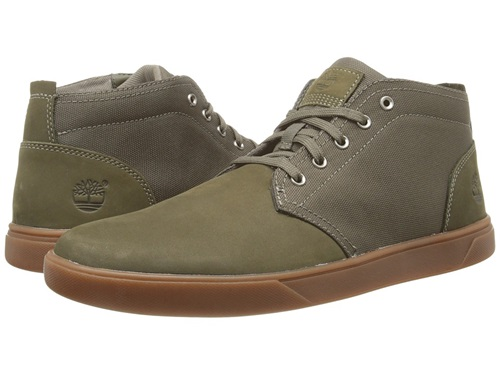 Chukka Nubuck Fabric Men's Groveton Leather Olive Canvas Timberland Shoes And UOxqITxB