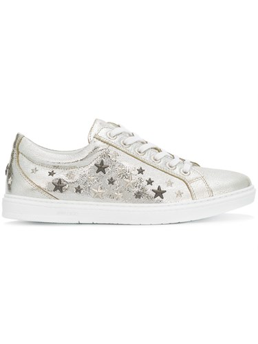 find great Jimmy Choo Silver Metallic Cash Sneakers clearance the cheapest cheap sale good selling best sale cheap price edHI4jJxD
