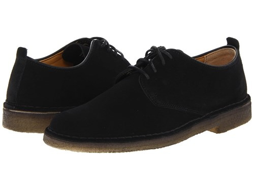 Suede Up Clarks Casual Lace Desert Black Shoes London qcW8pP