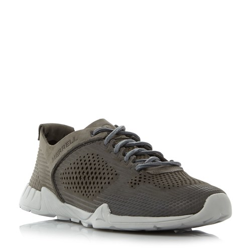 Merrell Versent Perforated Leather Runner Grey SHfV7wN
