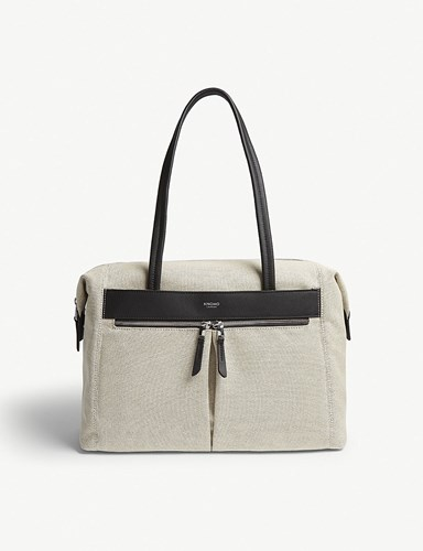Knomo Mayfair Curzon Tote Navy Canvas Pzzp8