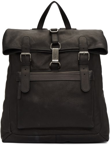 Ann Demeulemeester Black Soave Backpack PNI3d