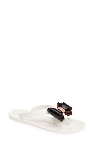 Flop Bow Black Rafeek Baker Women's Flip London Cream Ted 1wZSaqgW