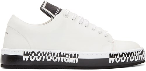 Wooyoungmi Off White Logo Sneakers 375Sd