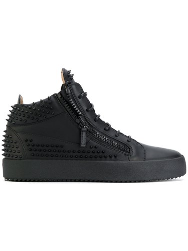 Giuseppe Zanotti Design Kriss Stud Hi Stop Sneakers Men Calf Leather Rubber 42 Black zQoZYvH