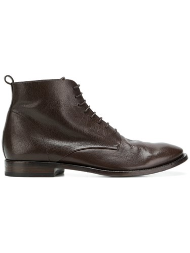 Buttero Lace Up Ankle Boots Brown pXAjRJPL